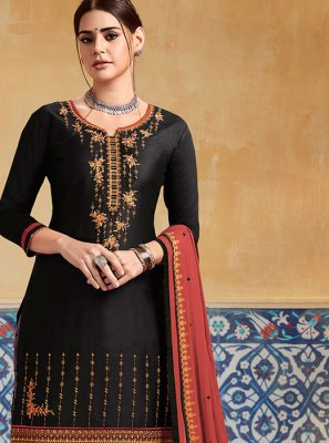 Black Wedding Designer Patiala Suit