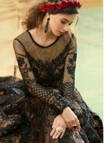 Black Wedding Floor Length Anarkali Suit