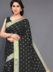 Black Woven Art Silk Traditional Saree