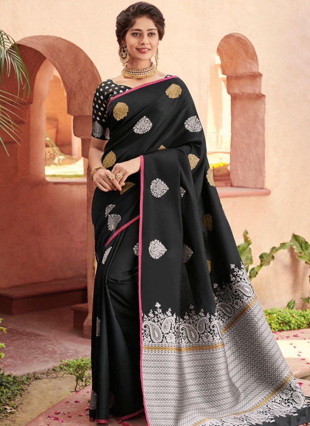 Black Zari Designer Saree