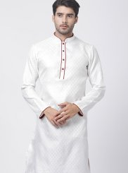 Blended Cotton White Kurta Pyjama
