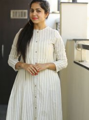 Block Print Cotton Trendy Gown in White