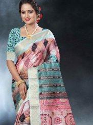 Blue Art Banarasi Silk Festival Classic Designer Saree