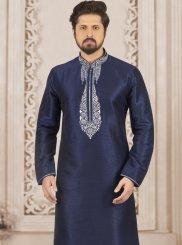 Blue Art Banarasi Silk Kurta Pyjama