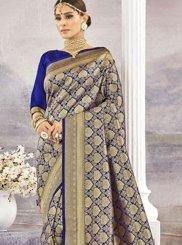 Blue Art Silk Classic Saree