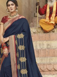 Blue Art Silk Designer Saree