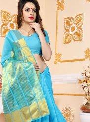 Blue Art Silk Festival Designer Traditional Saree
