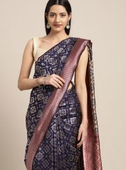 Blue Art Silk Party Trendy Saree