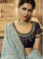 Blue Art Silk Traditional Saree