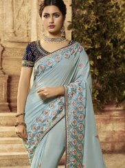 Blue Art Silk Traditional Saree