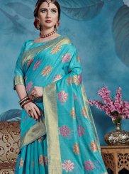 Blue Art Silk Weaving Traditional Designer Saree