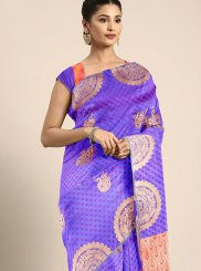 Blue Art Silk Weaving Traditional Designer Saree