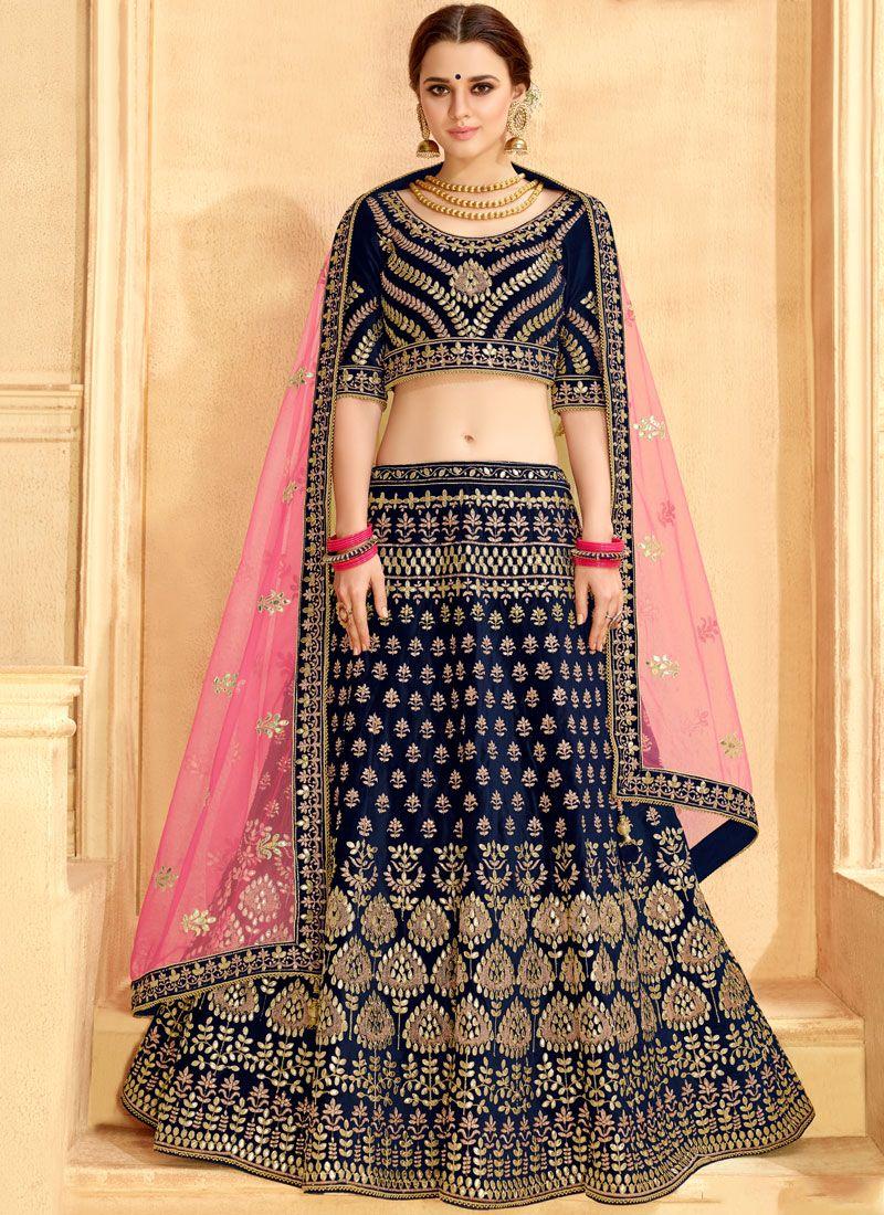 Blue Bridal Lehenga Choli