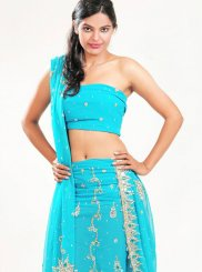 Blue Bridal Lehenga Choli