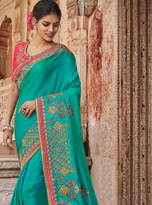 Blue Bridal Traditional Saree