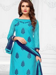 Blue Casual Churidar Suit