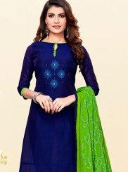 Blue Casual Trendy Churidar Salwar Kameez