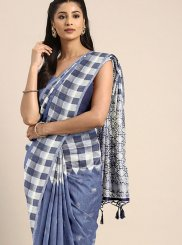 Blue Ceremonial Art Silk Designer Traditional Saree