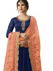 Blue Ceremonial Floor Length Anarkali Suit
