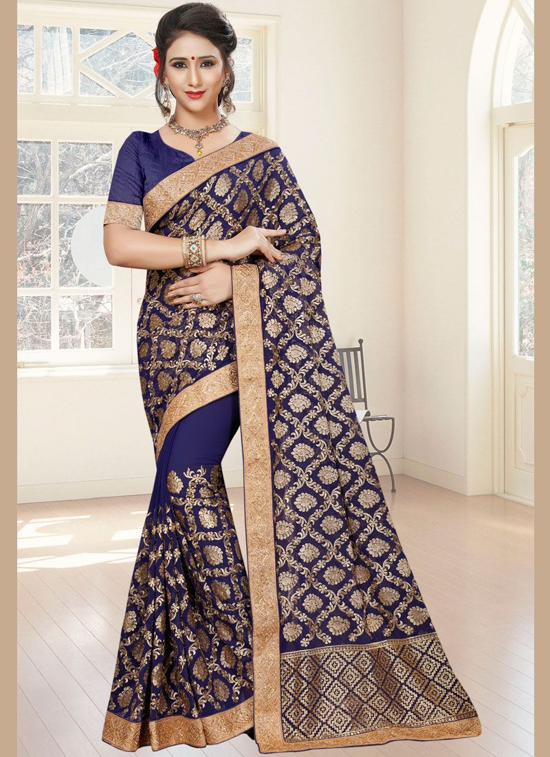 Blue Ceremonial Saree