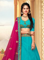 Blue Color A Line Lehenga Choli