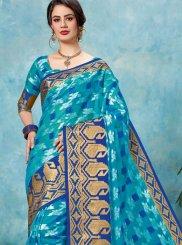 Blue Color Classic Saree