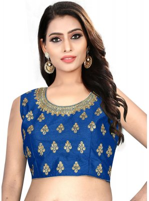 Blue Color Designer Blouse With Embroidery Work