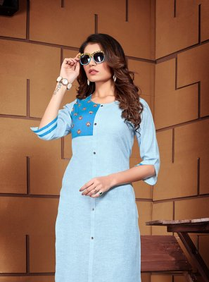 Blue Color Designer Kurti