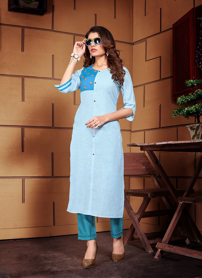 Blue Color Designer Kurti
