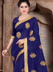 Blue Color Designer Traditional Saree