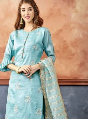 Blue Color Readymade Suit