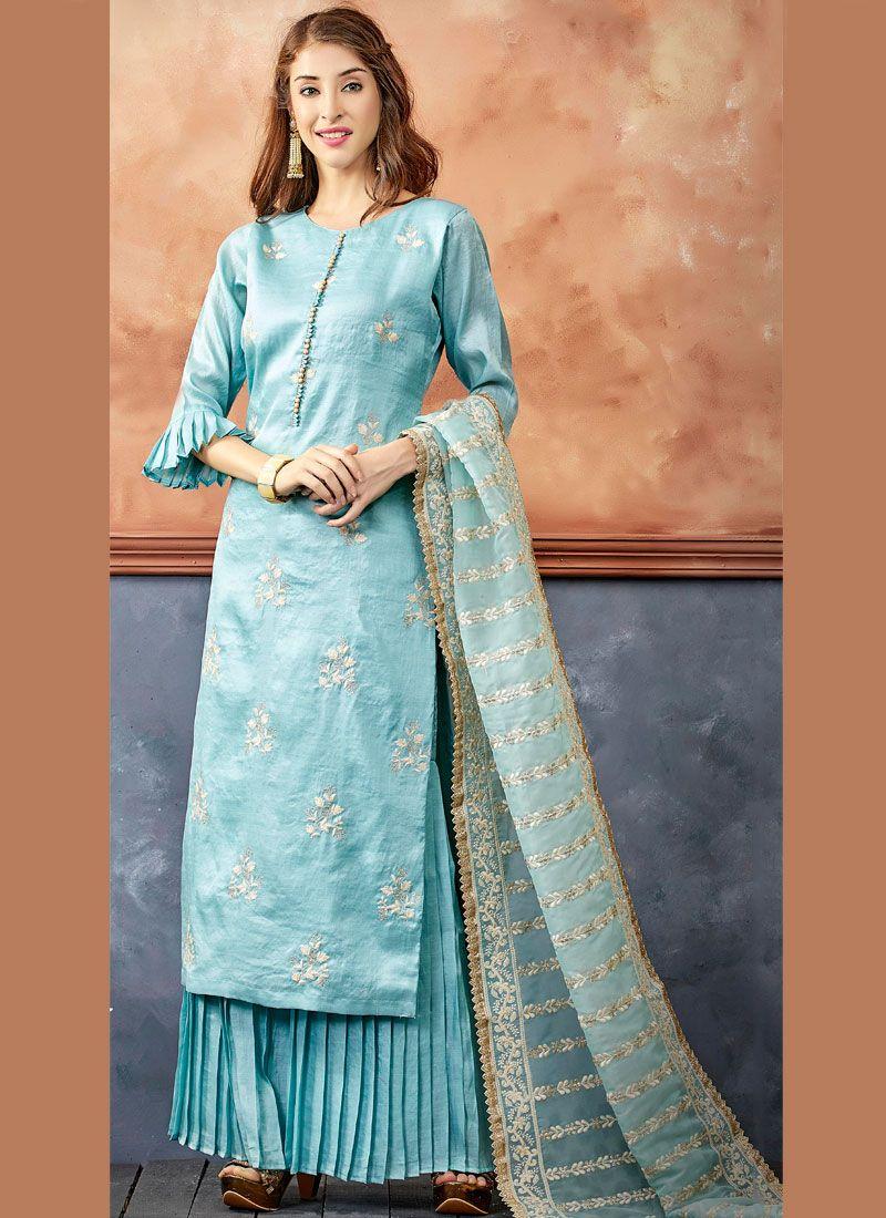 Blue Color Readymade Suit