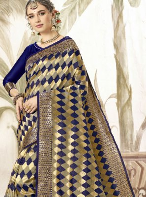 Blue Color Silk Saree
