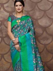 Blue Color Trendy Saree