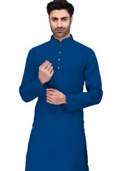 Blue Cotton Festival Kurta Pyjama