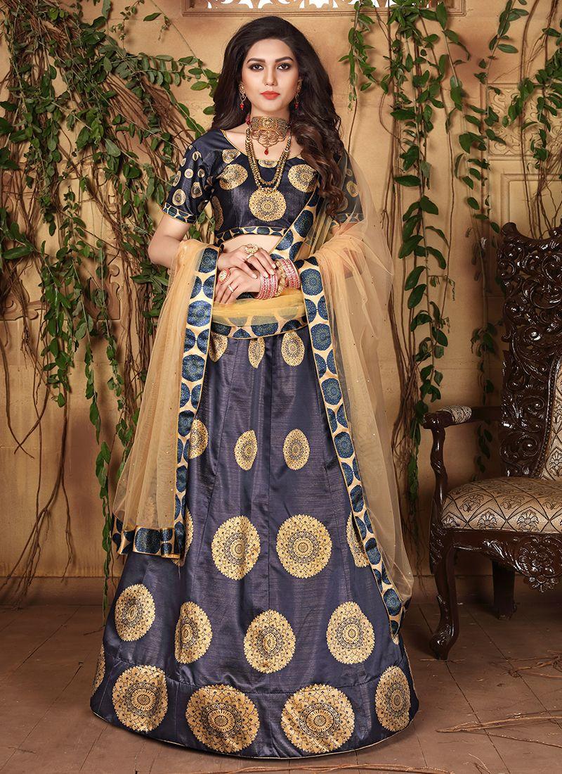 Blue Designer Lehenga Choli