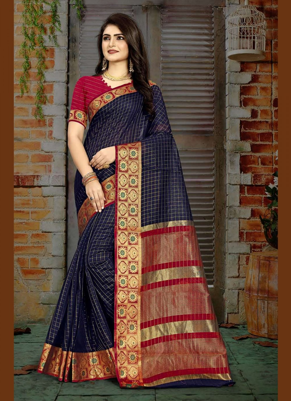 Blue Designer Traditional Saree