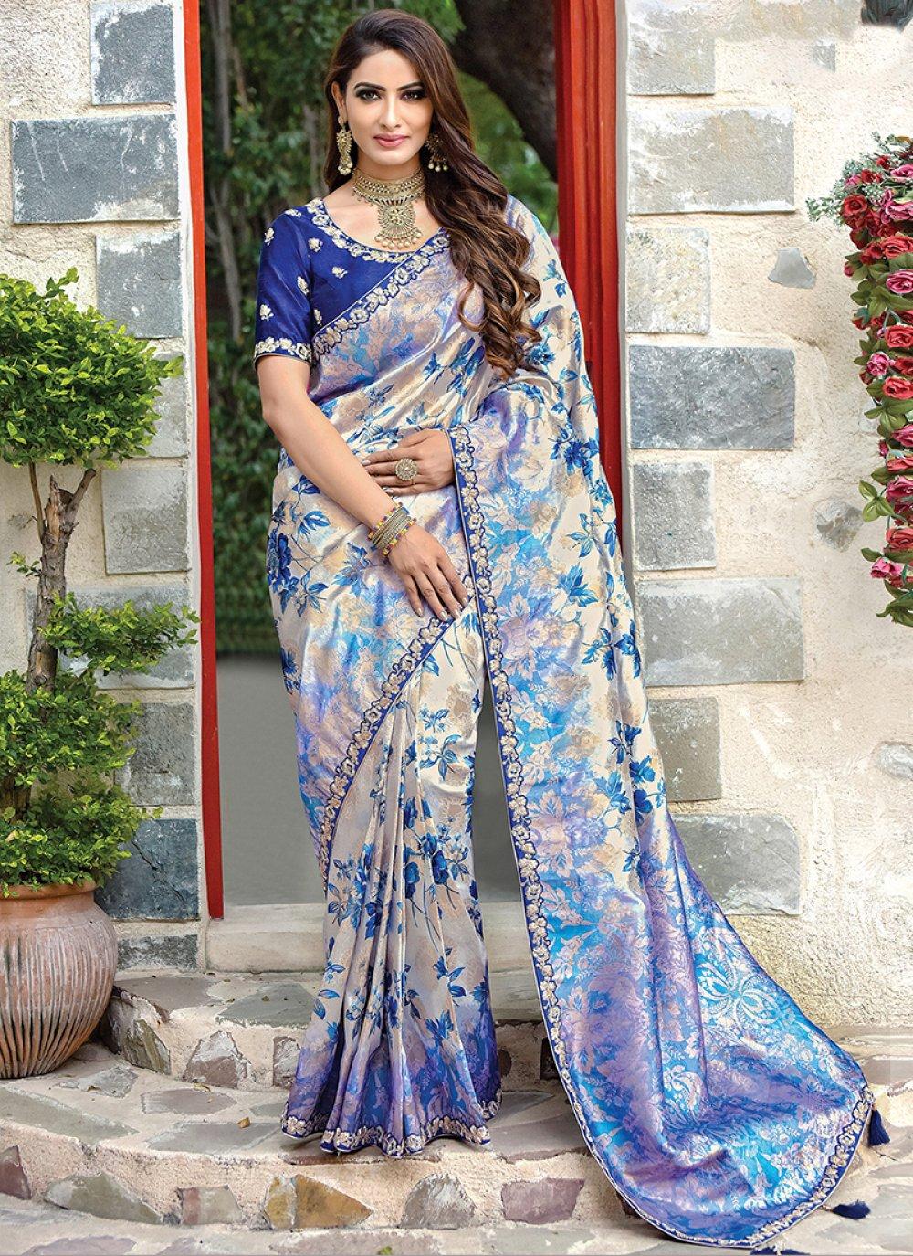 Blue Designer Traditional Saree