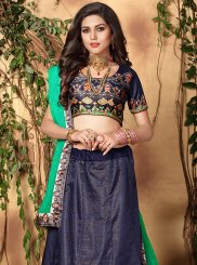 Blue Digital Print Trendy Lehenga Choli