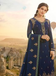 Blue Embroidered Designer Pakistani Suit