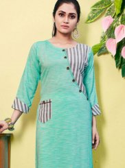 Blue Fancy Casual Kurti