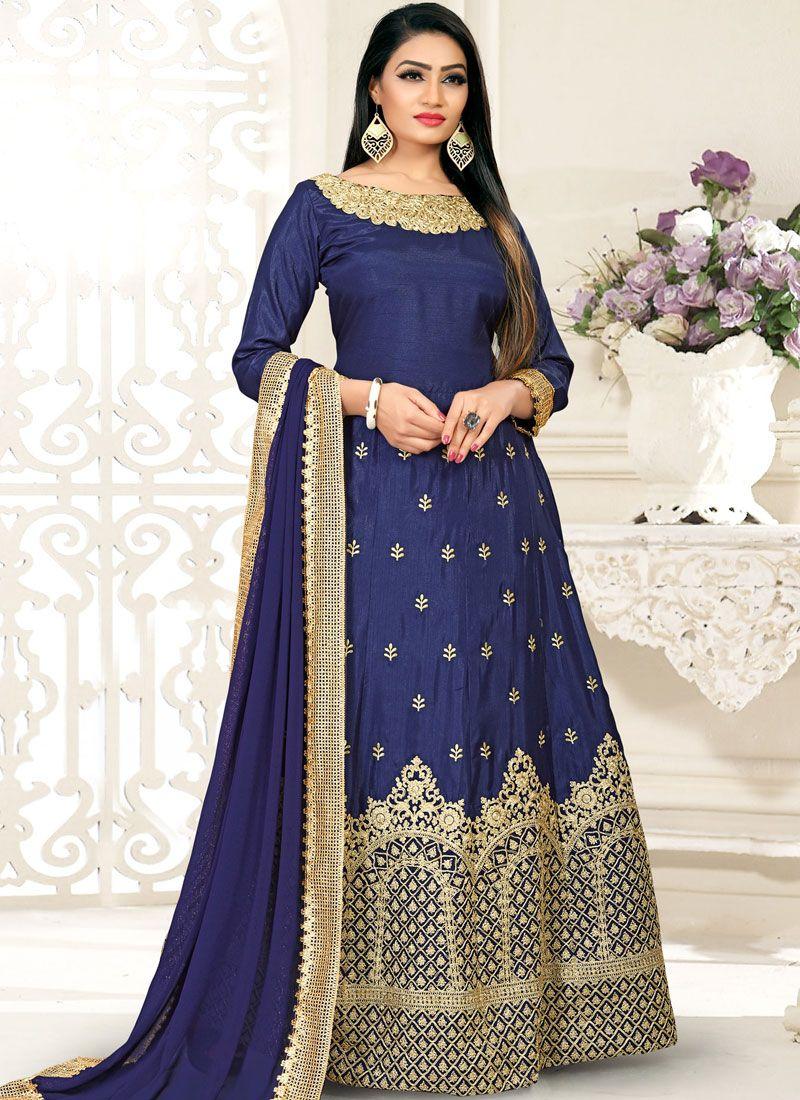 Blue Festival Designer Gown