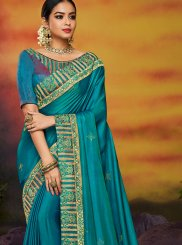 Blue Festival Designer Traditional Saree