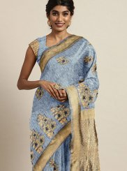 Blue Festival Designer Traditional Saree