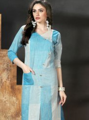 Blue Festival Party Wear Kurti