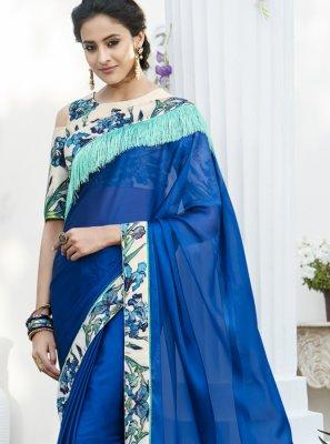 Blue Festival Saree