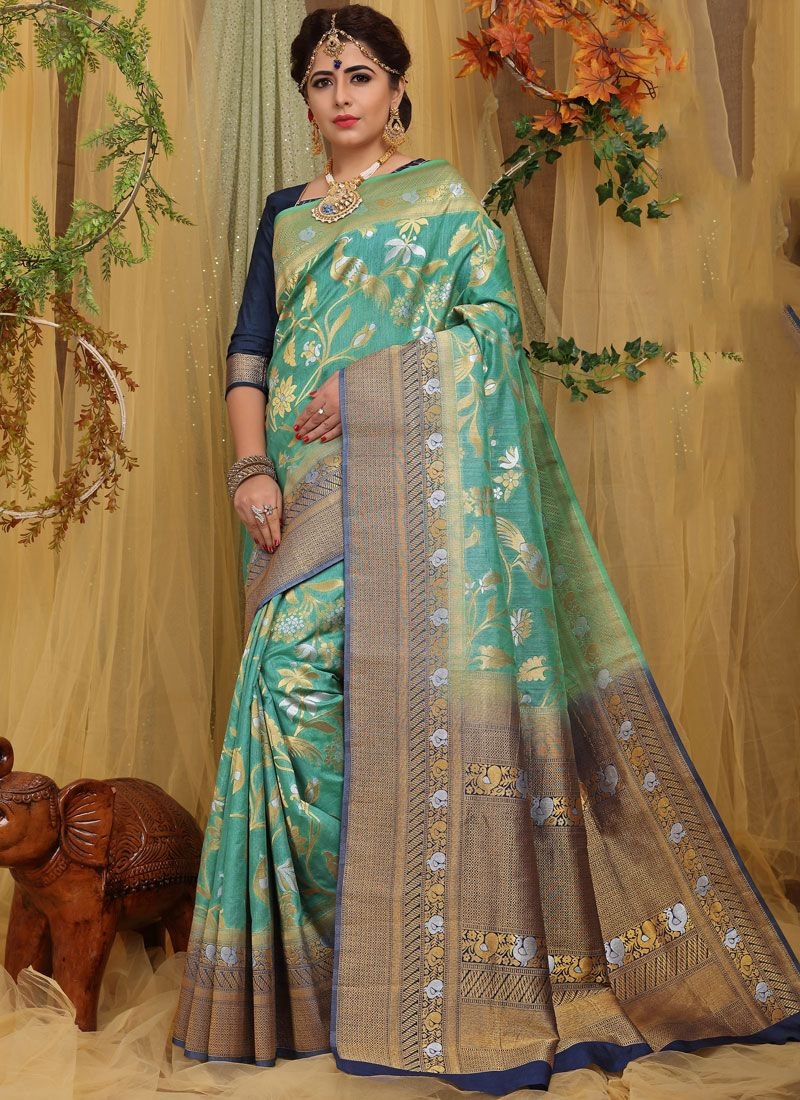 Blue Festival Traditional Saree