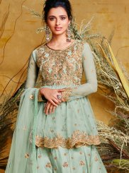 Blue Floor Length Anarkali Suit