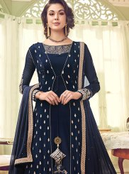 Blue Georgette Wedding Designer Salwar Suit