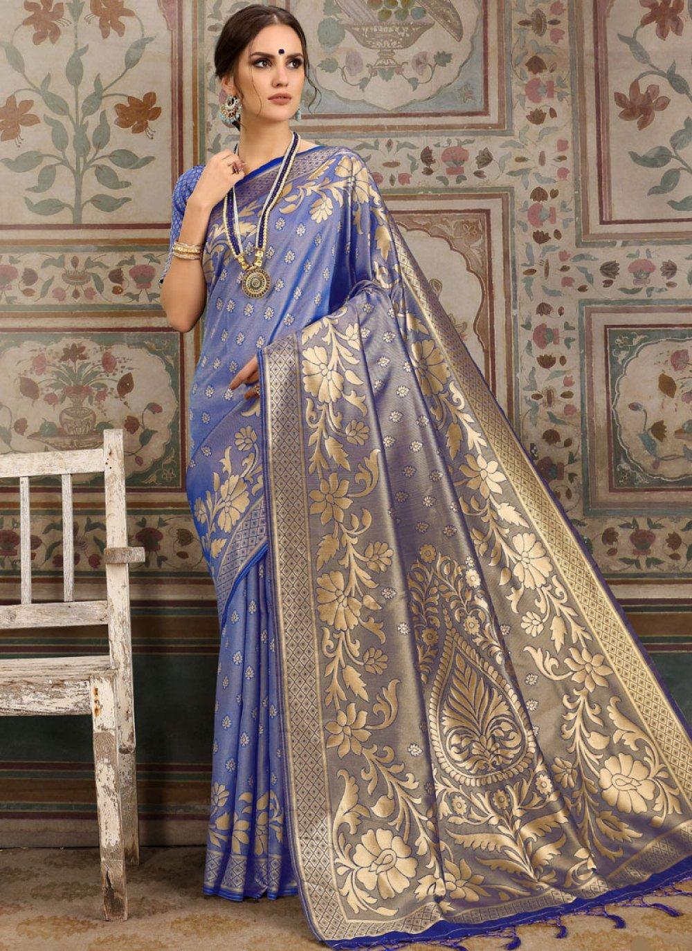 Blue Kanchipuram Silk Classic Saree